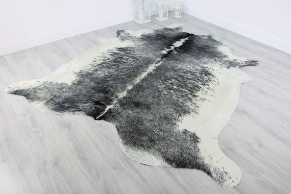 Premium Quality Giant XXXL Cowhide | Real Cowhide Rug | Gray White Cowhide | #COW12