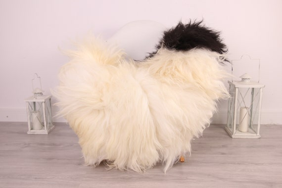 Real Icelandic Sheepskin Rug Scandinavian Decor Sofa Sheepskin throw Chair Cover Natural Sheep Skin Rugs Black White Blanket Fur Rug #Am9