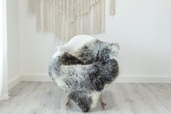 Real Sheepskin Rug Shaggy Rug Chair Cover Scandinavian Home Sheepskin Throw Sheep Skin White Gray Sheepskin Home Decor Rugs #Gut58