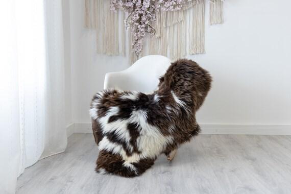 Real Sheepskin Rug Shaggy Rug Chair Cover Scandinavian Home Sheepskin Throw Sheep Skin White Brown Sheepskin Home Decor Rugs #herdwik188