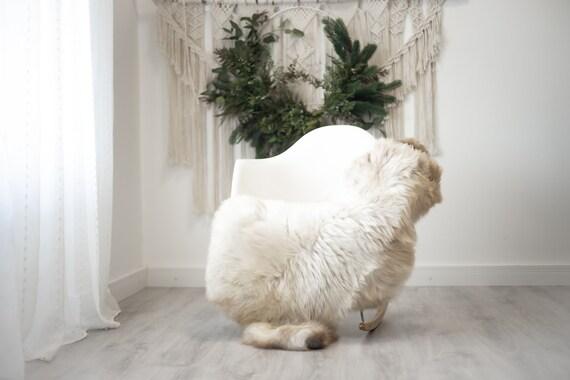 Real Sheepskin Rug Shaggy Rug Chair Cover Scandinavian Home Sheepskin Throw Sheep Skin White Brown Sheepskin Home Decor Rugs #herdwik362