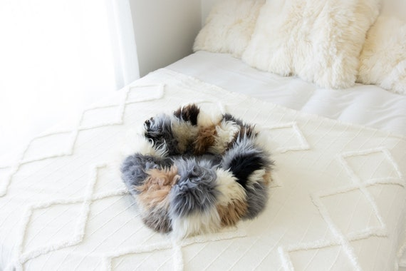 Sheepskin Cat Bed Or Dog Bed Cat Cave Unique Pet Bed Cat House Pet Furniture Hand Made With Genuine Real Sheepskin XXL Extra Large #Bed4