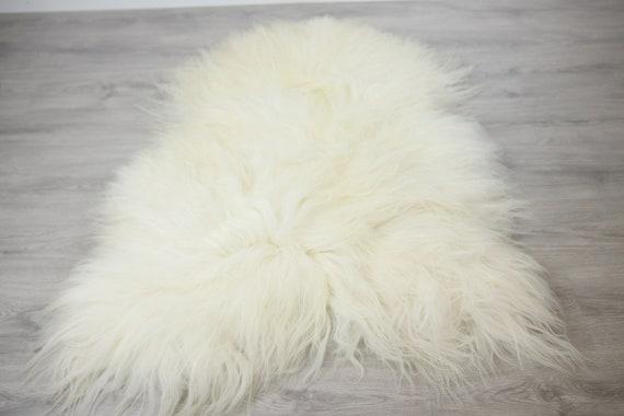 ON SALE Exclusive Genuine Natural Icelandic Sheepskin Rug, Pelt, super soft long fur  Large Sheepskin Throw White Sheep Skin