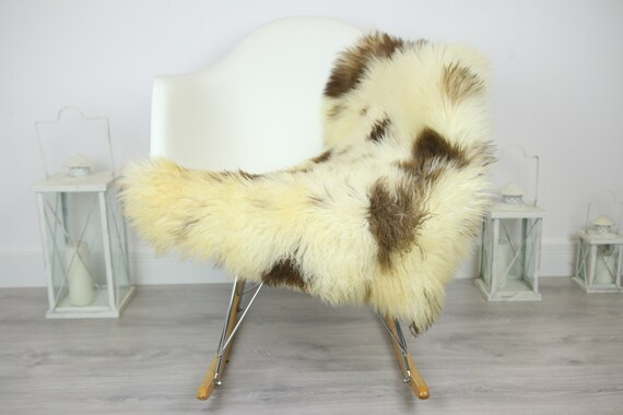 Genuine Rare Tuscan Lamb Sheepskin Rug - Curly Fur Rug - Natural Sheepskin - Ivory Sheepskin | Small Sheepskin #3MARGOT8