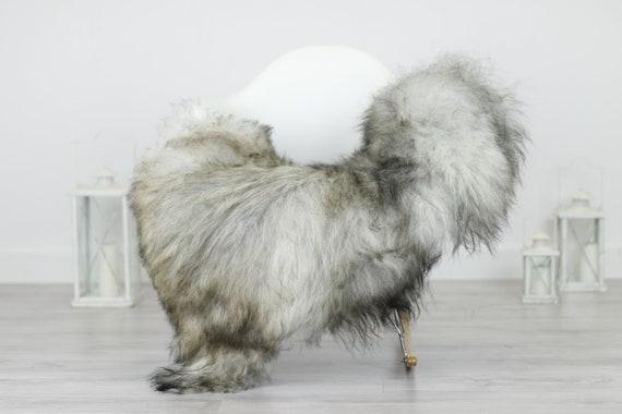 Real Icelandic Sheepskin Rug Scandinavian Decor Sofa Sheepskin throw Chair Cover Natural Sheep Skin Rugs Gray Blanket Fur Rug #Babisl20