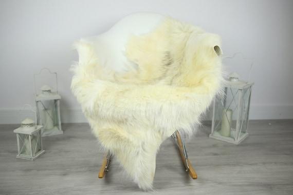 Natural Real Goatskin Rug, Goat Hide Goat Rug Ivory #Goat13