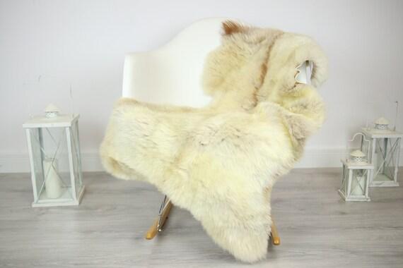 Sheepskin Rug | Real Sheepskin Rug | Shaggy Rug | Chair Cover | Sheepskin Throw | Beige Sheepskin | Home Decor | #JAC11