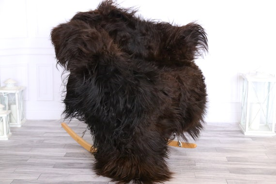 Icelandic Sheepskin | Real Sheepskin Rug | CHRISTMAS DECOR | Sheepskin Rug | Brown Black | Fur Rug | Homedecor #LISISL11