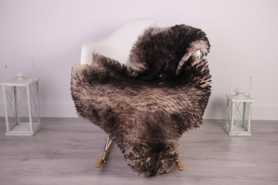 Real Sheepskin Rug Shaggy Rug Chair Cover Sheepskin Throw Sheep Skin Brown Sheepskin Home Decor Rugs #HERDZ25