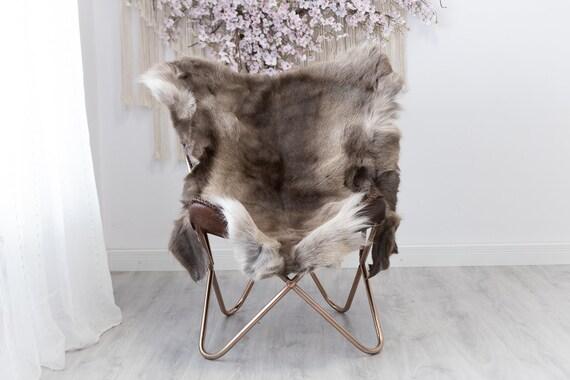 Reindeer Hide | Reindeer Rug | Reindeer Skin | Throw XXL EXTRA LARGE - Scandinavian Style Christmas Decor Brown White Hide #Reindeer45