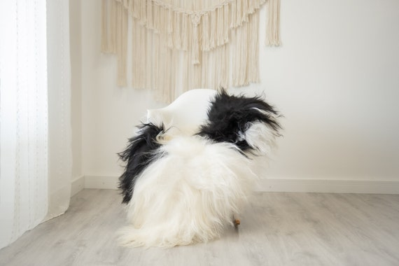 Real Icelandic Sheepskin Rug Scandinavian Home Decor Sofa Sheepskin throw Chair Cover Natural Sheep Skin Rugs White Ivory Black #Iceland506