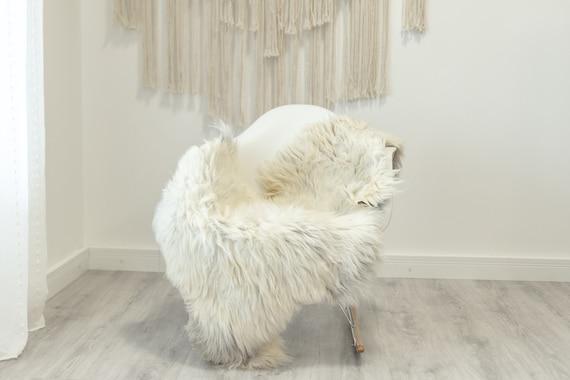 Real Sheepskin Rug Shaggy Rug Chair Cover Scandinavian Home Sheepskin Throw Sheep Skin White Gray Sheepskin Home Decor Rugs #Gut80