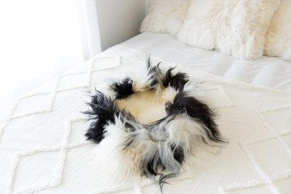 Sheepskin Cat Bed Or Dog Bed Cat Cave Unique Pet Bed Cat House Pet Furniture Hand Made With Genuine Real Sheepskin XXL Extra Large #Bed17
