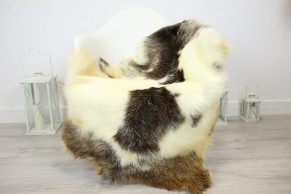 Natural real Goatskin rug, Goat Hide Goat Rug Ivory #Goat34