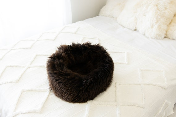 Sheepskin Cat Bed Or Dog Bed Cat Cave Unique Pet Bed Cat House Pet Furniture Hand Made With Genuine Real Sheepskin XXL Extra Large #Bed38
