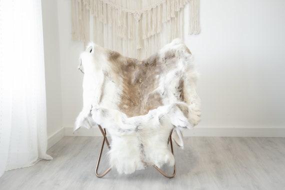 Reindeer Hide | Reindeer Rug | Reindeer Skin | Throw XXL EXTRA LARGE - Scandinavian Style Christmas Decor Brown White Hide #Reindeer84