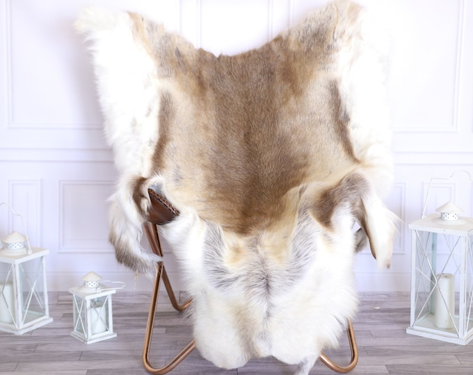 Reindeer Hide | Reindeer Rug | Reindeer Skin | Throw Large  -XXL EXTRA LARGE Scandinavian Style #22RE23