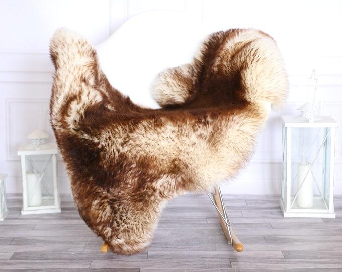 Sheepskin Rug | Real Sheepskin Rug | Shaggy Rug | Scandinavian Rug | | SCANDINAVIAN DECOR |Beige Copper Sheepskin  #MIHER19