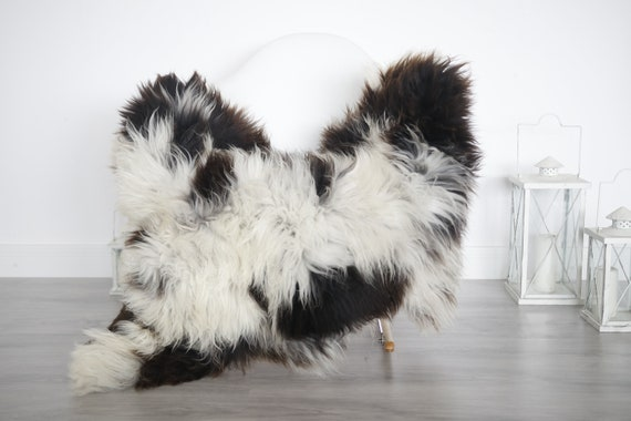 Real Sheepskin Rug Shaggy Rug Chair Cover Sheepskin Throw Sheep Skin White Brown Sheepskin Home Decor Rugs #6her9