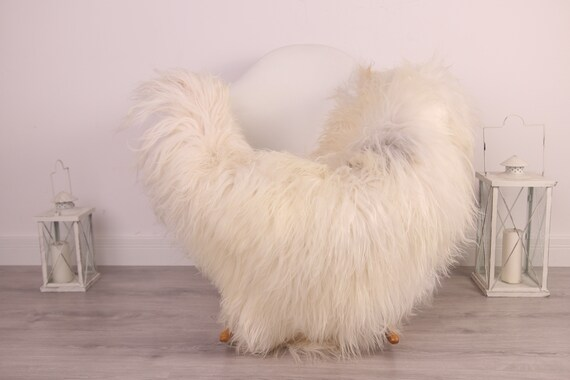Real Icelandic Sheepskin Rug Scandinavian Decor Sofa Sheepskin throw Chair Cover Natural Sheep Skin Rugs Gray Ivory Blanket Fur Rug #Am31