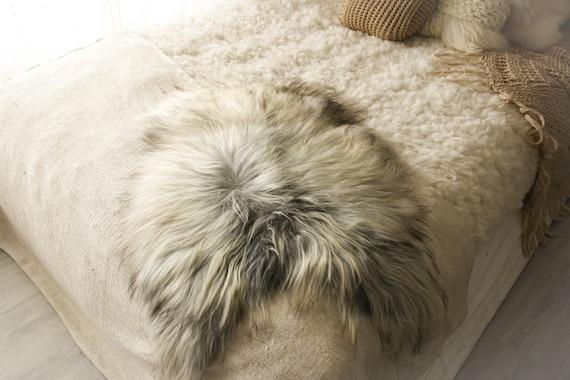 Real Icelandic Sheepskin Rug Scandinavian Decor Sofa Sheepskin throw Chair Cover Natural Sheep Skin Rugs Gray White Fur Rug #Islbeau17