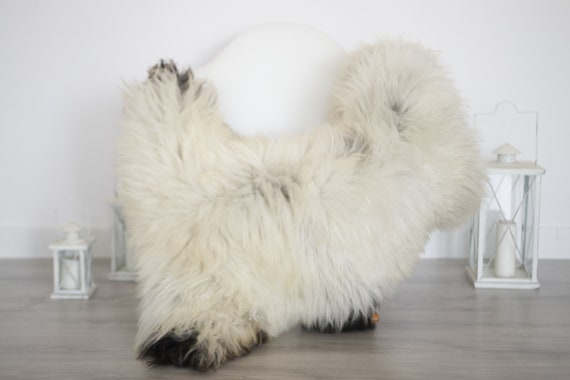 Real Sheepskin Rug Shaggy Rug Chair Cover Sheepskin Throw Sheep Skin Brown Ivory Sheepskin Home Decor Rugs #6her27