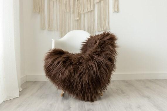Real Icelandic Sheepskin Rug Scandinavian Home Decor Sofa Sheepskin throw Chair Cover Natural Sheep Skin Rugs Brown #Iceland487