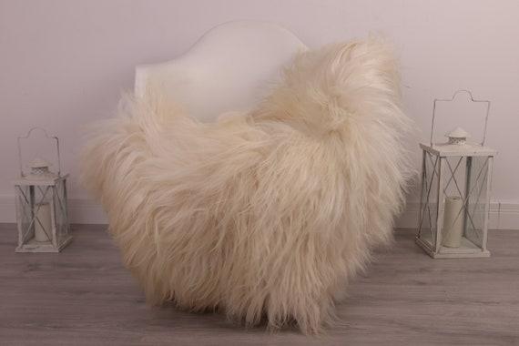 Real Icelandic Sheepskin Rug Scandinavian Decor Sofa Sheepskin throw Chair Cover Natural Sheep Skin Rugs Ivory Blanket Fur Rug #kefisl1