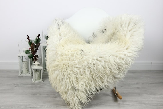 Organic Sheepskin Rug, Real Sheepskin Rug, Curly Sheepskin, Gray Beige Sheepskin Rug Christmas Home #CURLGUT5