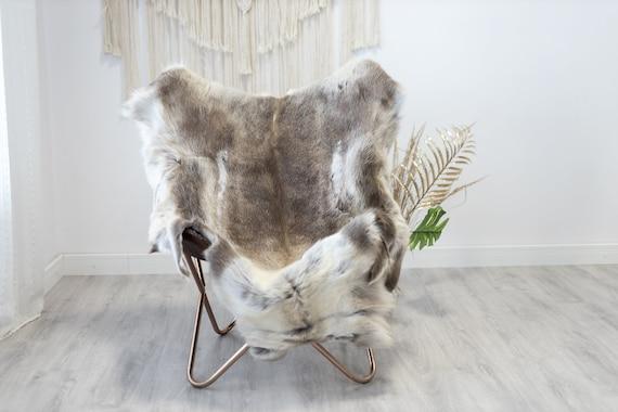Reindeer Hide   Reindeer Rug   Reindeer Skin   Throw XXL EXTRA LARGE - Scandinavian Style Christmas Decor Brown White Hide #Reindeer23