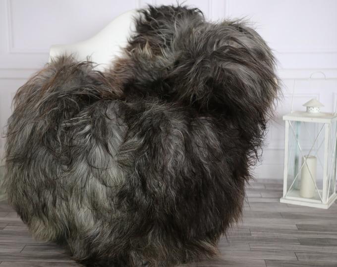 Icelandic Sheepskin | Real Sheepskin Rug |  Super Large Sheepskin Rug Gray Brown | Fur Rug | Homedecor #APRISl40