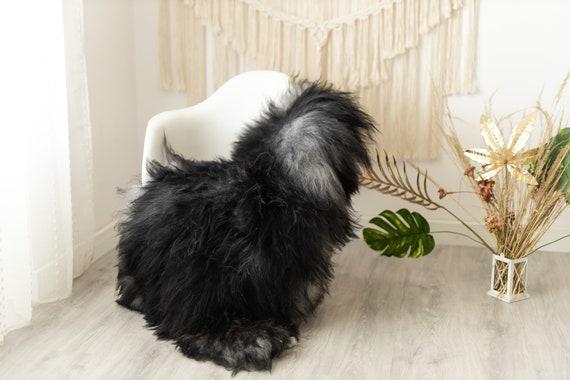 Real Icelandic Sheepskin Rug Scandinavian Decor Sofa Sheepskin throw Chair Cover Natural Sheep Skin Rugs Gray Fur Rug #Urisl5
