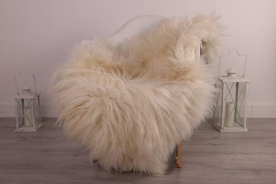 Real Icelandic Sheepskin Rug Scandinavian Decor Sofa Sheepskin throw Chair Cover Natural Sheep Skin Rugs Ivory Blanket Fur Rug #kefisl12