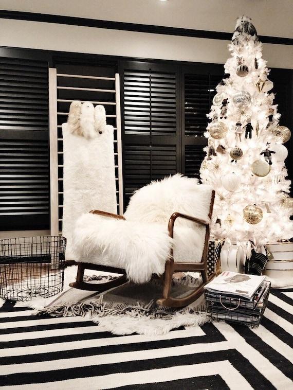SALE Original Creamy White Real Icelandic Sheepskin Rug Home Decor Scandinavian Decor