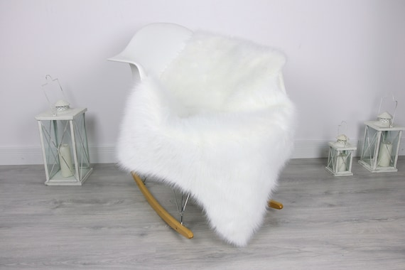 White Faux Sheepskin rug, Fur rug, Faux fur, Faux fur sheepskin