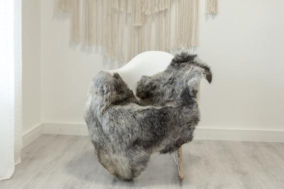 Real Sheepskin Rug Shaggy Rug Chair Cover Scandinavian Home Sheepskin Throw Sheep Skin White Gray Sheepskin Home Decor Rugs #Gut83