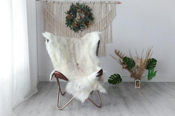 Reindeer Hide | Reindeer Rug | Reindeer Skin | Throw XXL EXTRA LARGE - Scandinavian Style Christmas Decor Brown White Hide #Pre9