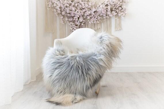 Real Icelandic Sheepskin Rug Scandinavian Decor Sofa Sheepskin throw Chair Cover Natural Sheep Skin Rugs Gray Brown #Iceland288