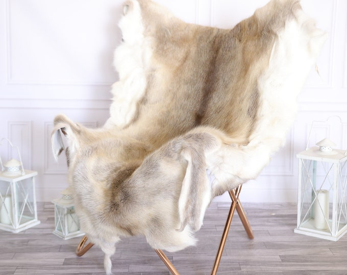 Reindeer Hide | Reindeer Rug | Reindeer Skin | Throw Large  -XXL EXTRA LARGE Scandinavian Style #22RE20