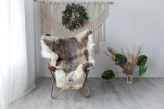 Reindeer Hide | Reindeer Rug | Reindeer Skin | Throw XXL EXTRA LARGE - Scandinavian Style Christmas Decor Brown White Hide #Pre8