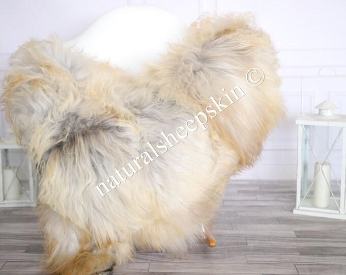 Icelandic Sheepskin | Real Sheepskin Rug | Sheepskin Rug Gray Carmel | Fur Rug | Homedecor #MAYISL14