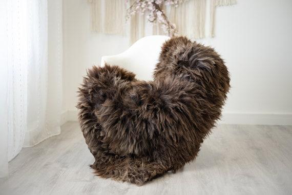 Real Sheepskin Rug Shaggy Rug Chair Cover Scandinavian Home Sheepskin Throw Sheep Skin Brown Sheepskin Home Decor Rugs #herdwik275