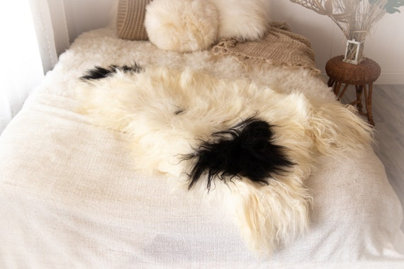 Real Icelandic Sheepskin Rug Scandinavian Decor Sofa Sheepskin throw Chair Cover Natural Sheep Skin Rugs Gray Fur Rug #KWAISL14