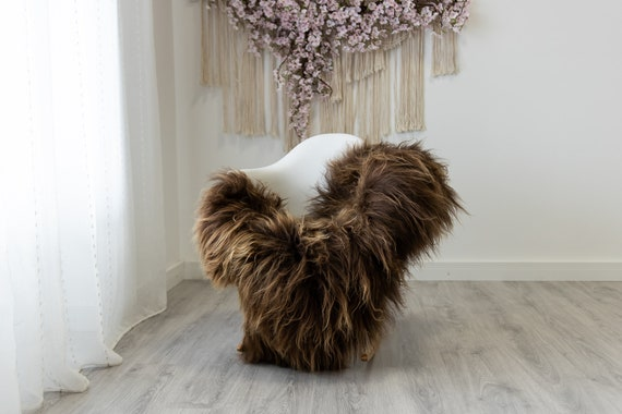 Real Icelandic Sheepskin Rug Scandinavian Home Decor Sofa Sheepskin throw Chair Cover Natural Sheep Skin Rugs Brown #Iceland322