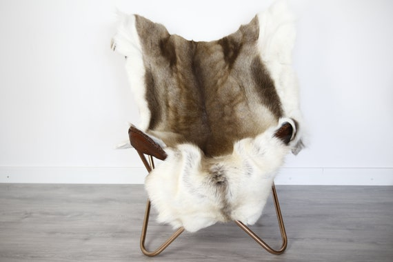 Reindeer Hide | Reindeer Rug | Reindeer Skin | Throw XXL EXTRA LARGE - Scandinavian Style Christmas Decor Brown Hide #Ire5