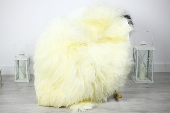 Icelandic Sheepskin | Real Sheepskin Rug | Sheepskin Rug Ivory Black | Fur Rug | Homedecor #3Isl8