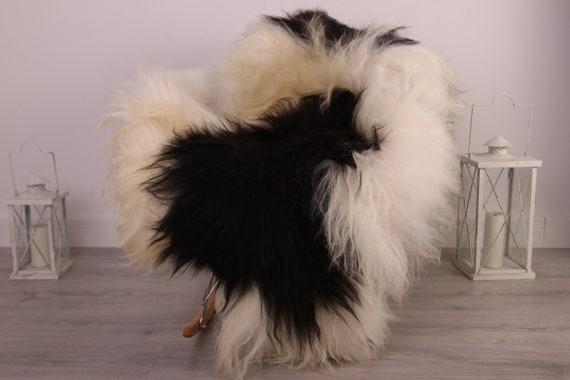 Real Icelandic Sheepskin Rug Scandinavian Decor Sofa Sheepskin throw Chair Cover Natural Sheep Skin Rugs Black White Fur Rug #kefisl24
