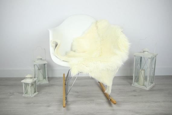 Natural real Goatskin rug, Goat Hide Goat Rug Ivory #Goat10