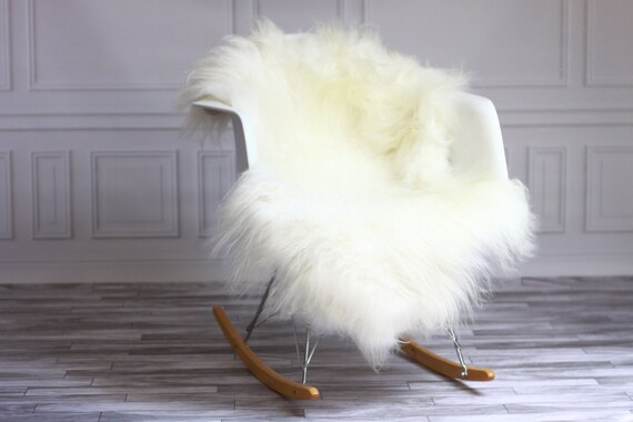 ON SALE White Sheepskin | Icelandic Sheepskin | Real Sheepskin Rug | Icelandic Sheepskin rug| Shaggy Rug | Chair Cover | home decor | white