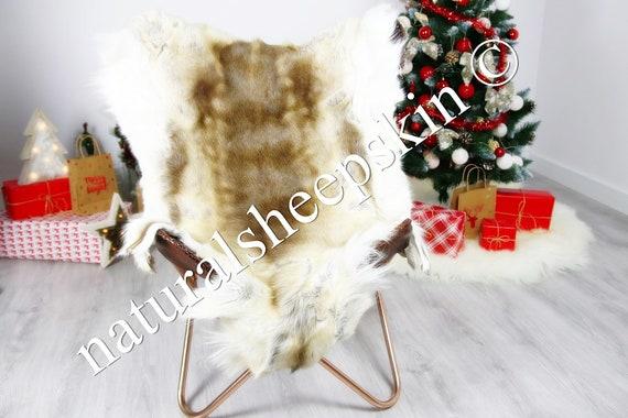 Reindeer Hide   Reindeer Rug   Reindeer Skin   Throw  - Scandinavian Style #DRE4 135X100